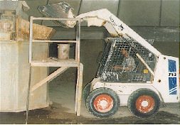 The crushed clay is then loaded into a blunger where the other raw materials and water are added. The mixture is then mixed until a slurry is formed.