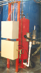 Pumps and a network of pipes feed the slurry into high pressure filter presses.